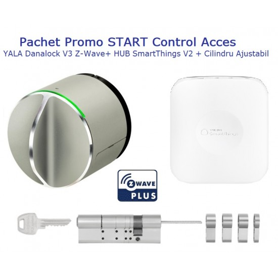 Pachet Promo START Control Acces Yala Danalock V3 Z-Wave + HUB SmartThings V2